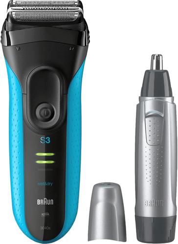 Braun Series 3 3040 Wet & Dry + Tondeuse à nez Main Image