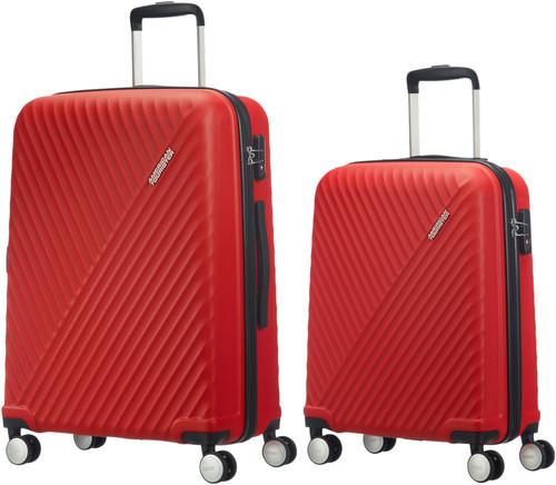 American Tourister Visby Valise à 4 roulettes 55 cm Red + 76 cm Red Set de valises Main Image