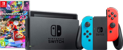 Nintendo Switch (Version 2019) Rouge/Bleu Bundle Mario Kart Main Image