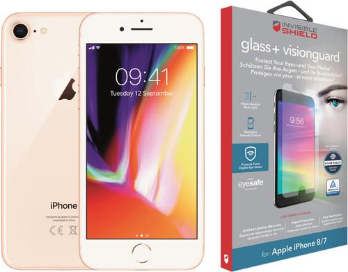 Apple iPhone 8 64 GB Goud + InvisibleShield Glass+ VisionGuard screenprotector Main Image