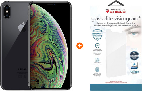 Apple iPhone Xs Max 64 Go Gris sidéral + InvisibleShield Verre Main Image