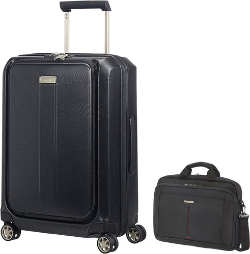 Samsonite Prodigy Spinner 55cm Black + Samsonite GuardIt 2.0 Main Image