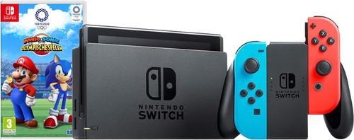 Nintendo Switch (Version 2019) Rouge/Bleu + Mario & Sonic aux Jeux Olympiques de Tokyo 202 Main Image