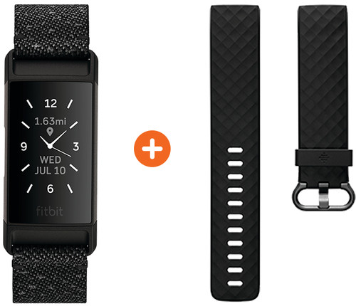 Fitbit Charge 4 Special Edition Granite + Extra Plastic Strap Main Image