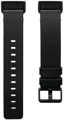 Fitbit Charge 4 Bracelet en Cuir Noir L Main Image