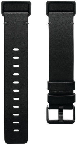 Fitbit Charge 4 Leather Strap Black Size S Main Image
