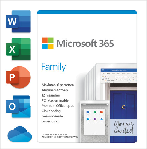 Microsoft 365 Family NL Abonnement 1 jaar Main Image