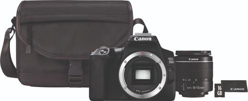 Canon EOS 250D Noir + 18-55 mm f/3.5-5.6 DC III + Sacoche + carte mémoire de 16 Go + chiff Main Image