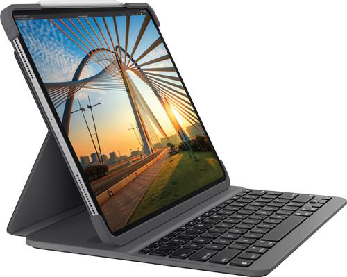 Logitech Slim Folio Pro Apple iPad Pro 12,9 inch (2020/2018) Toetsenbord Hoes AZERTY Grijs Main Image