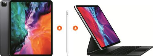 Apple iPad Pro (2020) 12,9 inch 256 GB Wifi Space Gray + Magic Keyboard AZERTY + Pencil 2 Main Image