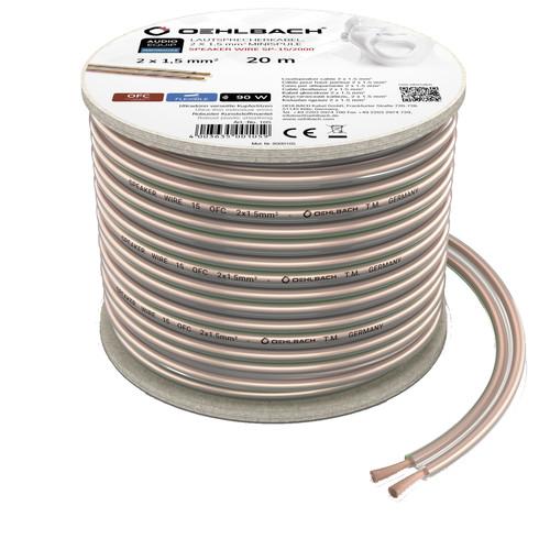Oehlbach Loudspeaker cable (2 x 1.5 mm) 20 meters Main Image