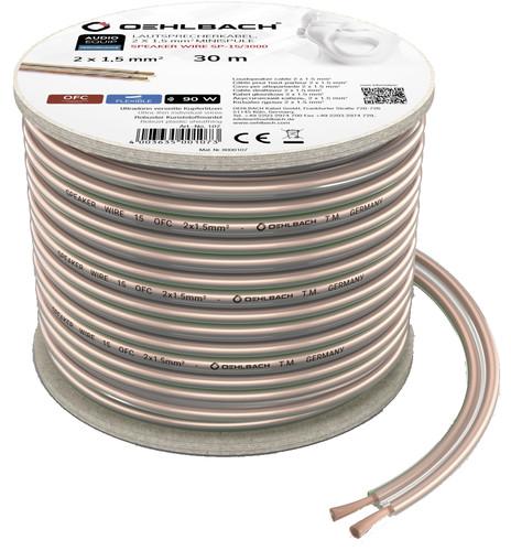 Oehlbach Loudspeaker cable (2 x 1.5mm) 30 meters Main Image