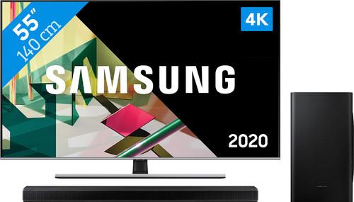 Samsung QLED 55Q74T + Soundbar Main Image