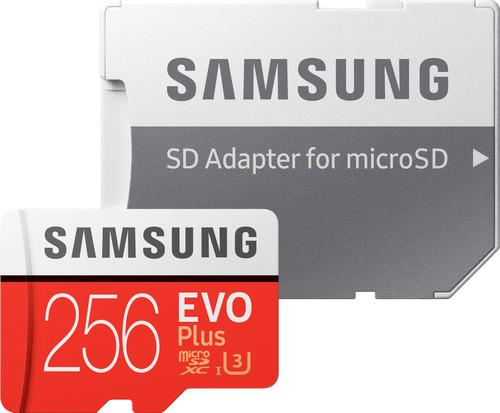 Samsung microSDXC EVO+ 256GB 100MB/s CL 10 + SD adapter Main Image