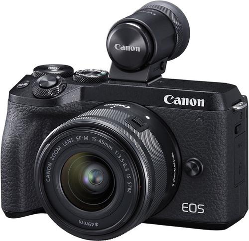 Canon EOS M6 Mark II Zwart + 15-45mm + EVF-DC2 Main Image