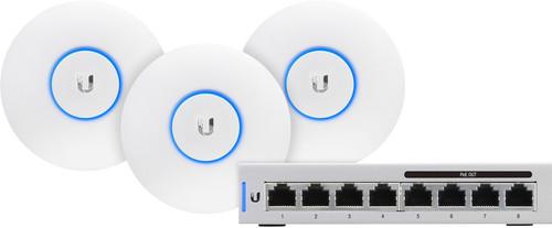 Ubiquiti UniFi AP-AC-LITE 3-Pack + Switch 8-60W Main Image