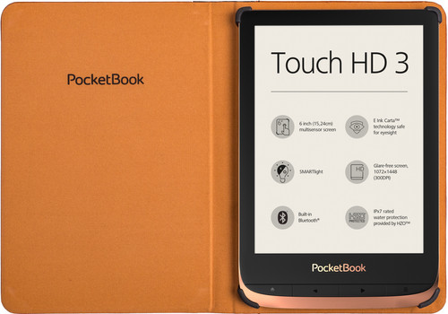 Tweedekans PocketBook Book Touch HD 3/Color/Touch Lux 4/5 Book Case Bruin Main Image