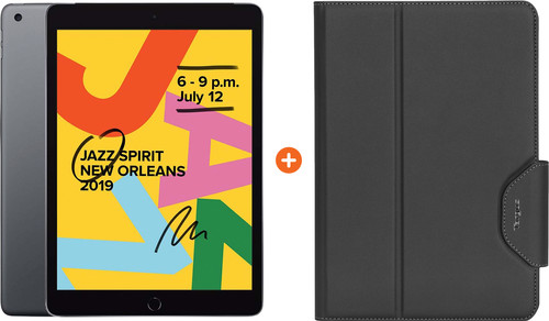 Apple iPad (2019) 128 GB Wifi Space Gray + Targus VersaVu Book Case Main Image