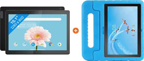 Lenovo Tab M10 2GB 32GB Wifi Zwart + Just in Case Kids Case Blauw Main Image