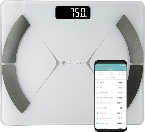 Silvergear Bluetooth Personenweegschaal Wit Main Image