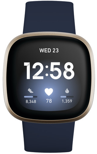Fitbit Versa 3 Bleu/Or Main Image