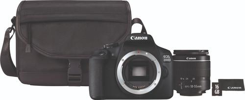 Canon EOS 2000D + 18-55mm f/3.5-5.6 DC III + Sacoche + 16 Go carte mémoire Main Image