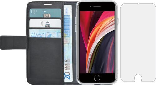 Azuri Wallet Apple iPhone SE 2 / 8 / 7 Book Case Zwart + Case Friendly Screenprotector Main Image