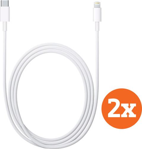 Apple Usb C naar Lightning Kabel 1m Kunststof Wit Duopack Main Image