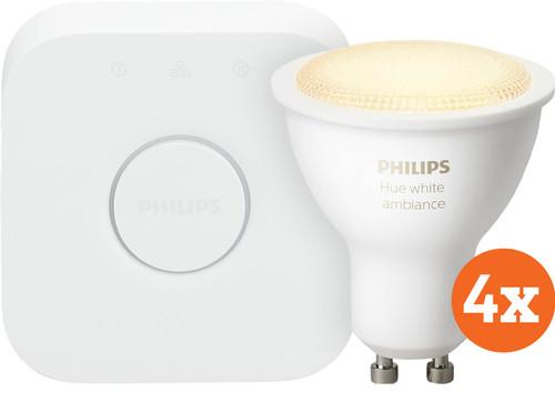 Philips Hue White Ambiance GU10 Bluetooth Starter 4-Pack Main Image