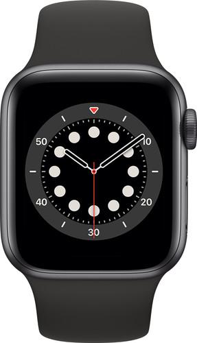 Apple Watch Series 6 40mm Space Gray Aluminium Zwarte Sportband Main Image