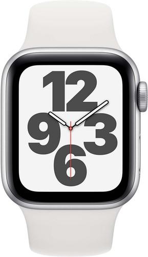 Apple Watch SE 40mm Zilver Aluminium Witte Sportband Main Image