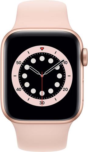 Apple Watch Series 6 40mm Roségoud Aluminium Roze Sportband Main Image
