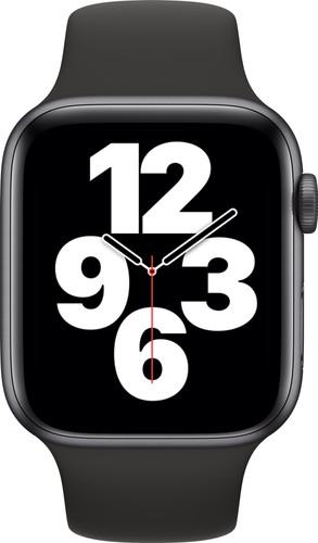 Apple Watch SE 44mm Space Gray Aluminium Zwarte Sportband Main Image