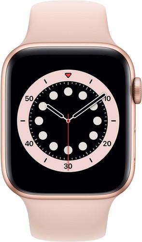 Apple Watch Series 6 44mm Goud Aluminium Roze Sportband Main Image