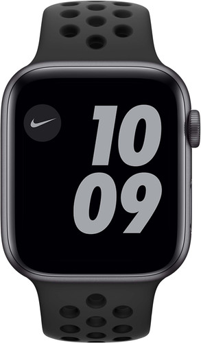 Apple Watch Nike Series 6 44mm Space Gray Aluminium Zwarte Sportband Main Image