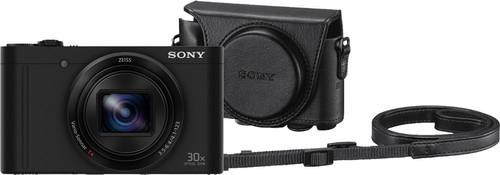 Sony CyberShot DSC-WX500 Zwart + LCJ-HWA Camerahoes Main Image