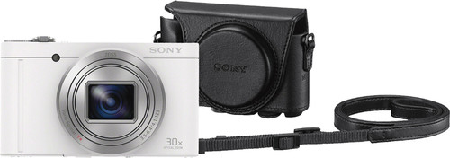 Sony CyberShot DSC-WX500 Wit + LCJ-HWA Camerahoes Main Image