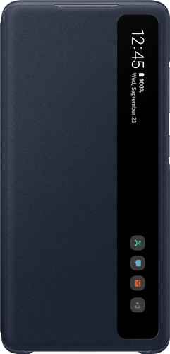 Samsung Galaxy S20 FE Clear View Book Case Blauw Main Image
