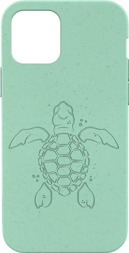 Pela Eco Friendly Apple iPhone 12 / 12 Pro Back Cover Blauw (Turtle Edition) Main Image