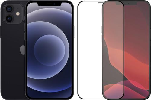 Apple iPhone 12 128GB Zwart + Azuri Tempered Glass Screenprotector Main Image