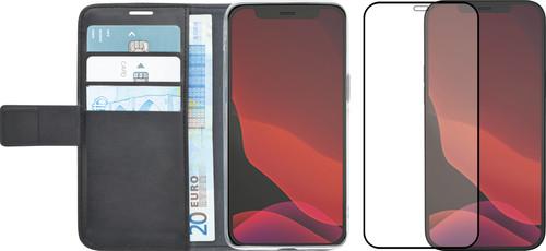 Azuri Wallet Apple iPhone 12 / 12 Pro Book Case Zwart + Azuri Screenprotector Main Image