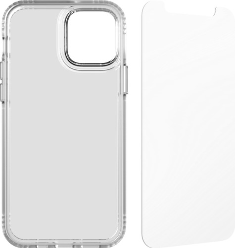 Tech21 Evo Clear Apple iPhone 12 / 12 Pro Back Cover Transparant + Screenprotector Main Image
