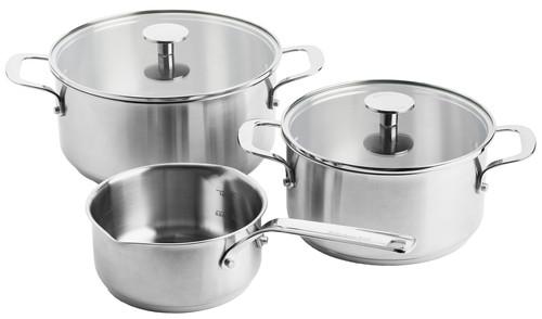 KitchenAid Stainless Steel 3-delige kookpannenset Main Image