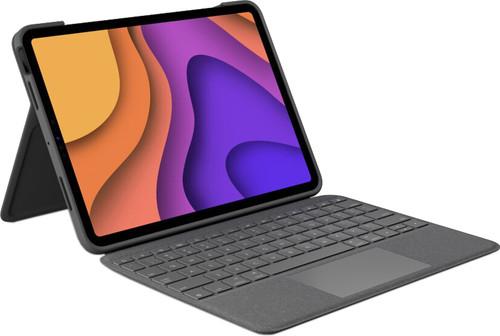 Logitech Folio Touch Apple iPad Air (2020) Toetsenbord Hoes AZERTY Grijs Main Image
