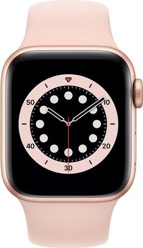Apple Watch Series 6 4G 40mm Goud Aluminium Roze Sportband Main Image