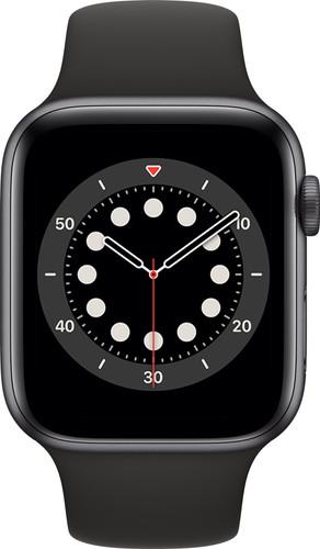 Apple Watch Series 6 4G 44mm Space Gray Aluminium Zwarte Sportband Main Image