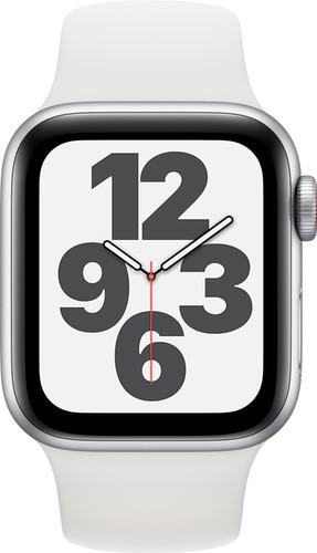 Apple Watch SE 4G 40mm Zilver Aluminium Witte Sportband Main Image