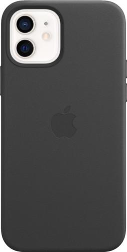 Apple iPhone 12 en 12 Pro Back Cover met MagSafe Leer Zwart Main Image
