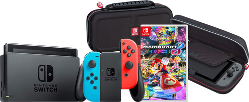 Game onderweg pakket - Nintendo Switch (2019 Upgrade) Rood/Blauw Main Image