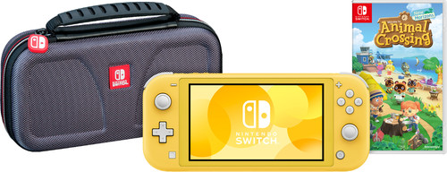 Game onderweg pakket - Nintendo Switch Lite Geel Main Image
